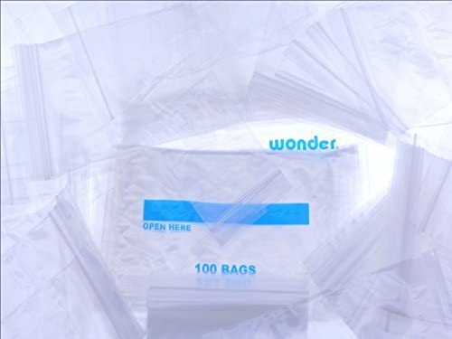 Amazon.com  100 Bags (Choose Size) 2 MIL Plastic Reclosable Zipper Bags Zip  Close Relock Resealable Self Sealing Poly Packaging Bags LDPE Food Grade ... cfd4c63e2edf4