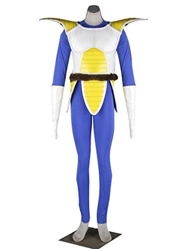 [Dazcos Dragon Ball Vegeta Men's Cosplay Costume (Men M)] (Dragon Ball Costume With Tail)