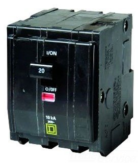 Square D Circuit Breaker, 20 Amp, 3-Pole, QO320