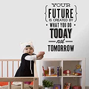 Wall Stickers English Proverbs Pattern Living Room Bedroom Removable Wall Stickers