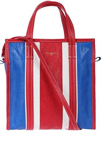 Balenciaga Women's 443096DE9CN4360 Blue/Red Leather Tote