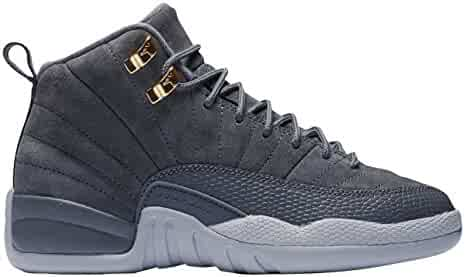 475e25912367 Nike Air Jordan 12 Retro BG Big Kids Basketball shoes Dark Grey