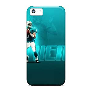 Iphone 5c FZX19695tAJI Custom Nice Miami Dolphins Skin Shock Absorbent Hard Cell-phone Cases -RichardBingley