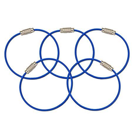Amazon.com: mantaring – Tornillo de cable llavero con ...