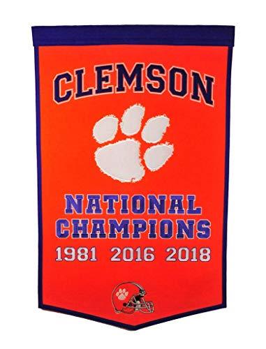 Winning Streak NCAA Clemson Football Dynasty Banner, Purple