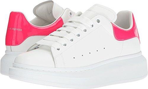 Alexander McQueen Women's Oversized Sneaker White/Bright Pink 36 B EU