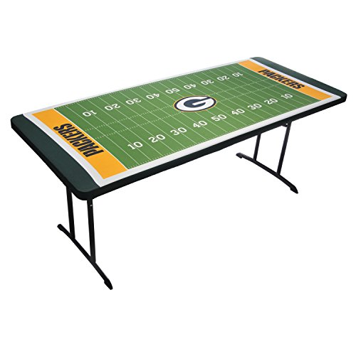 Nfl Tailgate Table - UPI Marketing NFL Green Bay Packers Table Top Tablecloth, Green
