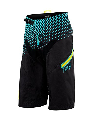 100 % r-core DH Short – Men 's B01LY62WV5 36|Supra Black/Cyan Supra Black/Cyan 36
