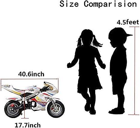 X-PRO Blast 40cc Gas Pocket Bike Mini Motorcycle Ride-On 4-Stroke Engine for Kids Padded Seat Pink