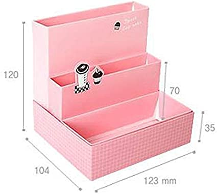 Caja de almacenamiento de cosméticosHot Diy Cartón Maquillaje Cosmético Caja De Almacenamiento De Contenedor De Papelería Deck Organizador Top: Amazon.es: Belleza