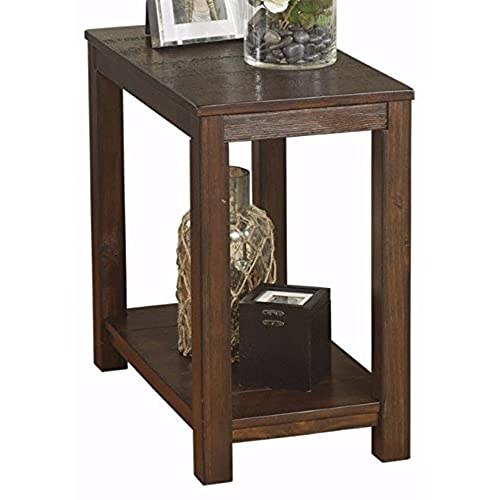 Charmant Ashley Furniture Signature Design   Grinlyn End Table   Accent Side Table    Rustic Brown
