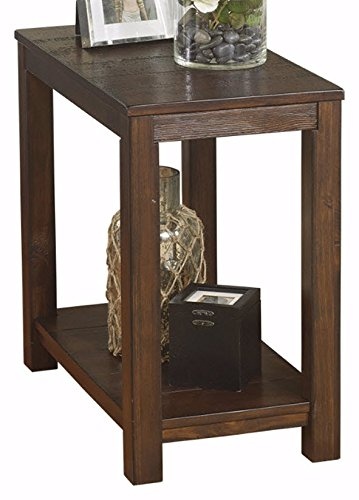 Ashley Furniture Signature Design - Grinlyn End Table - Accent Side Table - Rustic Brown (Antique Brown Desk)