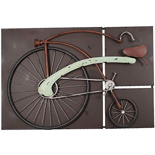 FENDOUBA Metal Wall Art Sculpture, Vintage Wrought Iron Bicycle Wall Decoration, for Home Bar Clothing Shop (Wrought Wall Bicycle Iron Art)