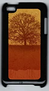 Apple iPod 4 Case and Cover - Scary halloween PC Case Cover for iPod 4/ iPod 4th Generation - Black
