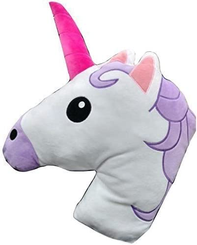 Unicorn Emoji Head Pillow Cushion Soft