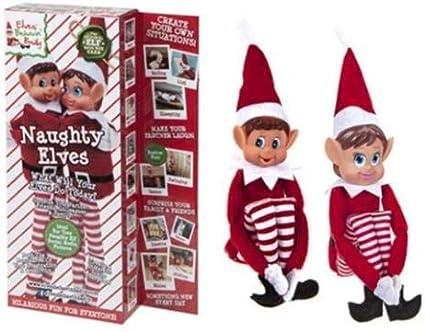 Elves Behavin Badly 12 Bendable Poseable Elf With Vinyl Head Christmas Accessory Black Elf Boy