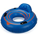 "Tube Pro Blue 48"" Premium River Tube with Backrest & Cupholder"