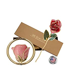 Gifts for Women- Long Stem Dipped 24k Gold Rose in Gift Box- Best Gift for Valentines, Mothers, Anniversary, Birthday Gift and Treating Yourself 3