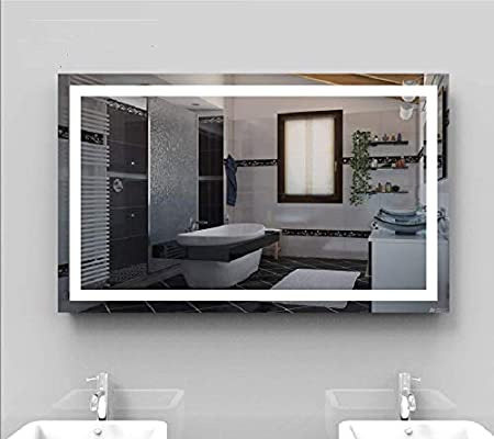 Amazon Com Wandasc Led Front Lighted Bathroom Vanity Mirror 60 Wide X 40 Tall Commercial Grade Rectangular Wall Mounted Furniture Decor