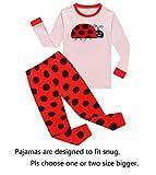 Ladybug Little Girls Long Sleeve Pajama Sets 100% Cotton Pjs Size 6