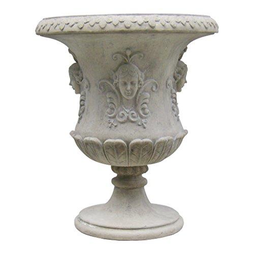 Design Toscano Goddess Flora Architectural Garden Urn (Grand Flora Stone)