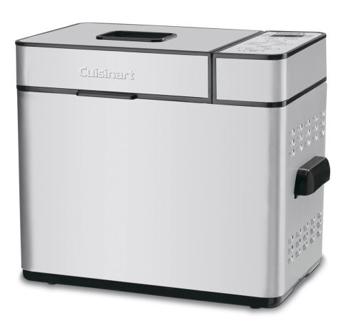 Cuisinart CBK-100FR 2-Pound Programmable Breadmaker (Renewed), Brushed Chrome, Silver by Cuisinart
