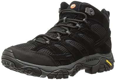 Merrell Men's Moab 2 Vent Mid Hiking Boot, Black Night, 7 M US