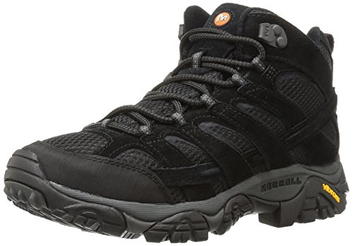 Merrell Men's Moab 2 Vent Mid Hiking Boot, Black Night, 7.5 M US