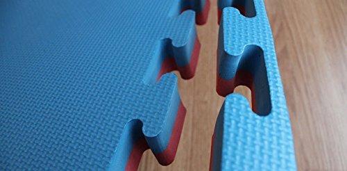 Lot 2/m.Carr/és de sol tatami Rouge//Bleu 4/cm