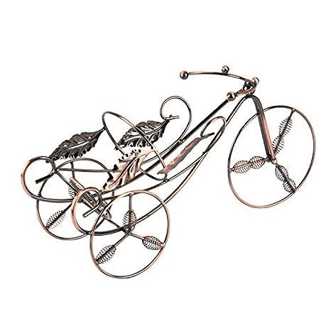 Soporte para botella de vino con diseño vintage de bicicleta ...