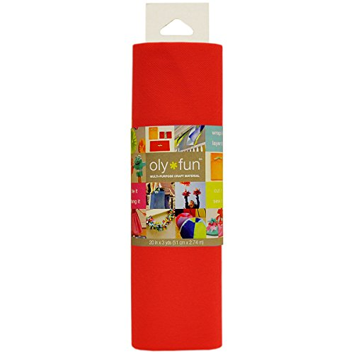 Fairfield Oly Fun Multi-Purpose 20-Inch Craft Material 3-Yard Cherry Pop by Fairfield