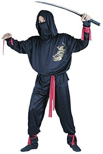 Funworld Mens Ninja Suit Theme Party Fancy Dress Costume, One Size (Cheap Ninja Costumes)
