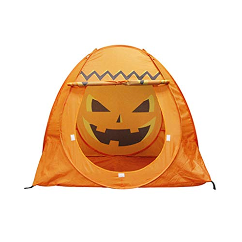 Disaud Kids Play Tent Children Playhouse Halloween Props Pumpkin Tent Haunted House ()