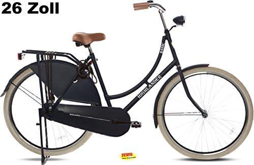 Bicicleta holandesa para mujer Highlander 26 pulgadas negro mate ...