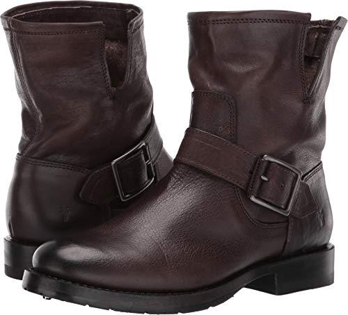 FRYE Women's Natalie Short Engineer Boot, Charcoal, 7.5 M - Frye Ankle Strap Heels