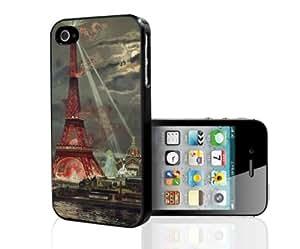 Colorful Paris Art Hard Snap on Phone Case (iPhone 4/4s)