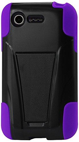 REIKO Silicon Hard Hybrid Kickstand Case for LG OPTIMUS F...