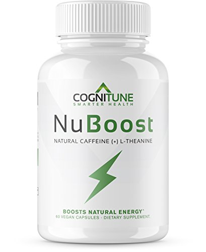 NuBoost - Premium Sustained Energy & Focus Supplement - #1 Nootropic Brain Booster for Smooth Instant Energy - No Crash, No Jitters - All Natural Caffeine Pills with L-Theanine + BioPerine