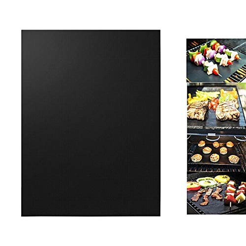 Packers Stick Green Bay Cue (Bbq Oven Grill Mat Heat Resistant Non Stick Sheet Pan Liners Baking Pad Black - Grill Mat)