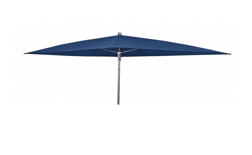 Doppler Absolut wasserdichter Gartenschirm Waterproof 225x120 ohne Volant, UV-Schutz 80, Farbe dunkelblau