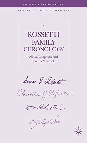 A Rossetti Family Chronology (Author Chronologies Series)