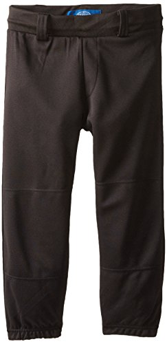 Louisville Belt - Louisville Slugger Youth Pull-Up Baseball Pant with Belt Loops, Black, X-Large