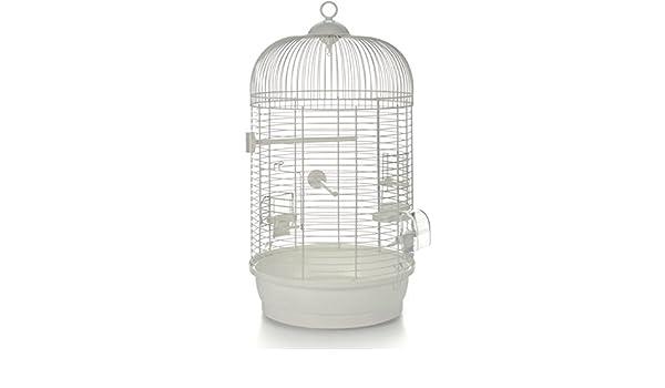 Pájaro jaula redonda con las varillas horizontales Julia color ...