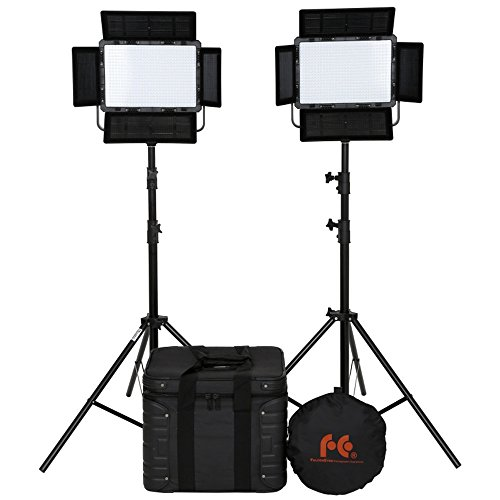Falcon Eyes Photography Lighting Kit 600 LEDs Continuous Light Panel 3000-8000K with Light Stands LP-600TD