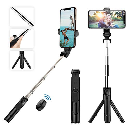 Selfie Stick, EEPIRR Selfie Stick Tripod with Built-in Bluetooth Remote for iPhone X/iPhone 8/8 Plus/iPhone 7/7 Plus/iPhone 6 Plus, Galaxy S9/S9 Plus/S8/S8 Plus/S7/Note 8, Huawei, More