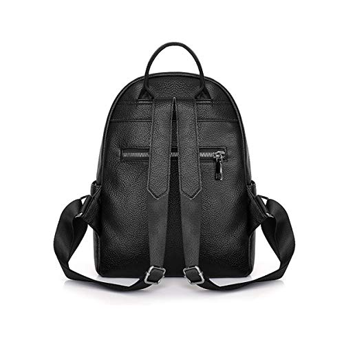 Travel Haoyushangmao The Girls Versatile Backpack is Perfect for Everyday Travel Cowhide. School Fashion and Leisure Outdoor Color : Red, Size : 27cm33cm12cm Black//Blue//red Work