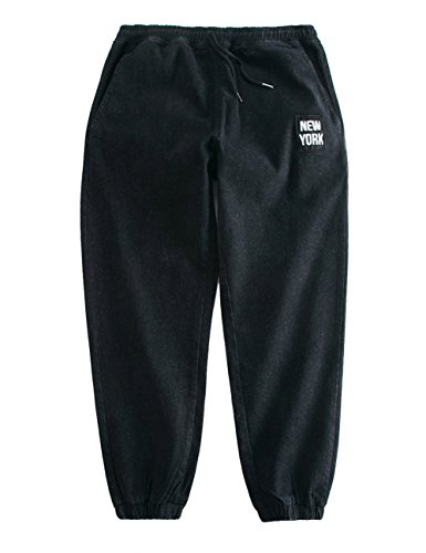 New York Design Loose Fit Jeans Hip Hop Baggy Pants for Boys and Men (Black 630, M)