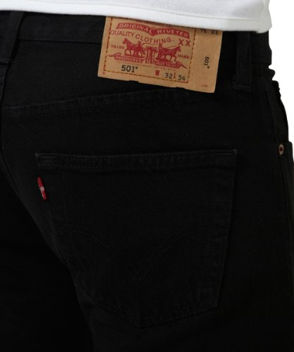 Uomo Tapered amp; Brand Customized Levis Nero black Jeans 501 wpIOFxxqY