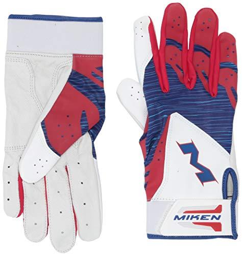 Miken Sports MBGL18-RWB-03 Batting Gloves, Red/White/Blue, Large