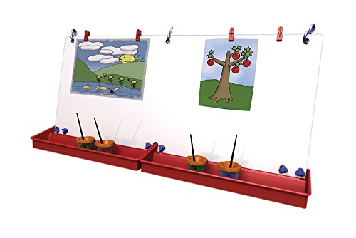 Childbrite Classroom Double Art Easel with S-Hooks